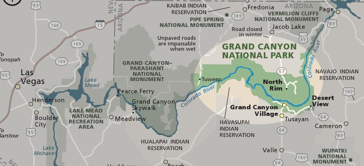 Karte Grand Canyon