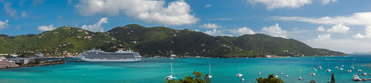 Road Harbour Panorama - 2 cruise ships docked (bvi4092)  CC BY