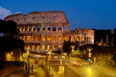 Coliseum at dusk (Larry Johnson)  CC BY
