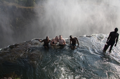Devils Pool - the top of Vic Falls (SarahDepper)  CC BY