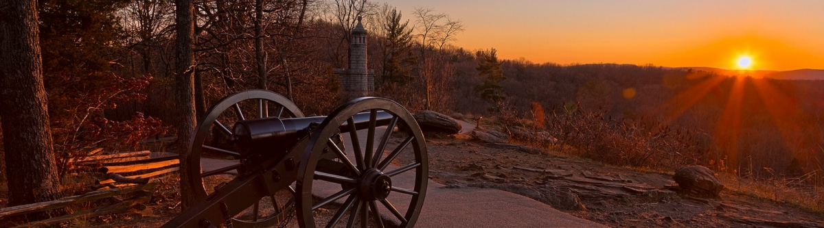 Gettysburg Sunset Cannon - HDR (Nicolas Raymond)  CC BY