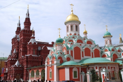 Kazan temple and Historical muzeum (Andrey)  CC BY