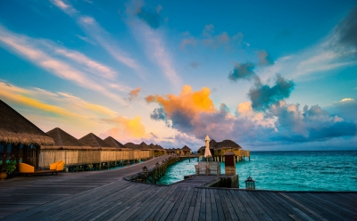 Maldives in the morning (Constance Halaveli Resort & Spa) (Mac Qin)  CC BY-ND