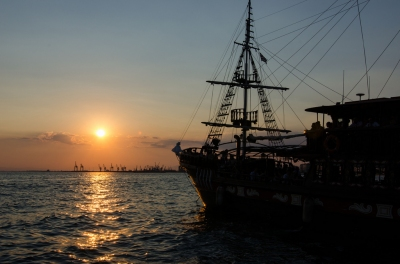 Pirate ship (kishjar?)  CC BY